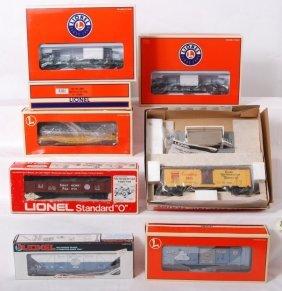 10 Lionel Freight Cars 19496, 9220, 26883, Etc