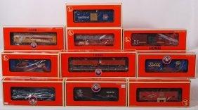 10 Lionel Freight Cars 52187, 27564, 17626, Etc.