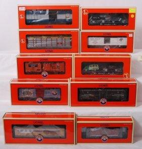 10 Lionel Freight Cars 26156, 36276, 52426, Etc