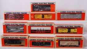 10 Lionel Freight Cars 17226, 17200, 19400, 16393