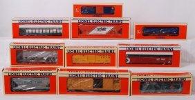 10 Lionel Freight Cars 16985, 17107, 17400, Etc