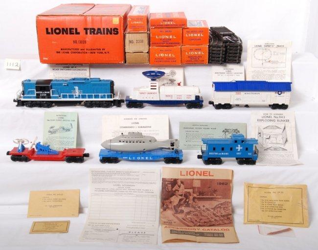 1112  Lionel 13028 Super O Diesel Freight Set In Ob 235