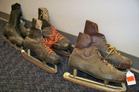 3 PAIR OF VINTAGE ICE SKATES
