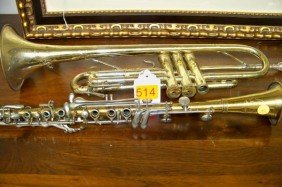 2 ASSORTED MUSICAL INSTRUMENTS: FLUTE