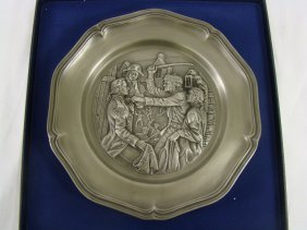 Franklin Mint Pewter Plate