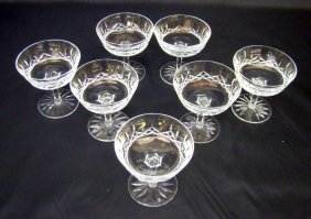 "7 Waterford Sherbet Glasses ""Lismore"""