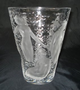 """Lalique Vase """"Ondines"""""""