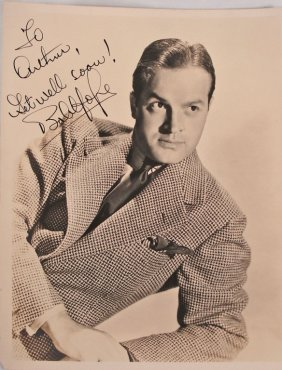Autographed 8x10 Bob Hope 1940's