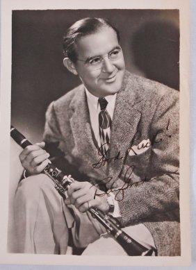 Autographed 5x7 Benny Goodman