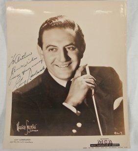 Autographed 8x10 Guy Lombardo