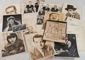 Assorted Autographed Portraits And Letters