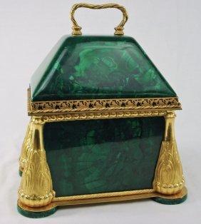Malachite Document Box With Ormolu