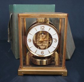Le Coultre Atmospheric Clock With Original Box