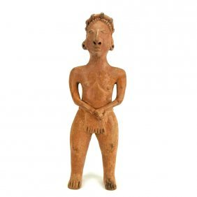 Large Pre-columbian Standing Colima Figure
