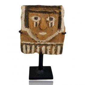 Rare Pre-columbian Chimu Wood Figure