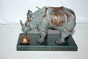 Exquisite Dali Rhinoceros Bronze Sculpture 6/299