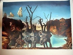 Exquisite Dali Hand Signed Litho Very Low Number / 90