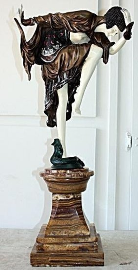 Danseuse D'ankara - Bronze & Ox Bone Sculpture Colinet