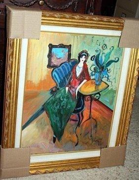 "Exquisite ""isabel"" - Tarkay Original Oil On Canvas Coa"
