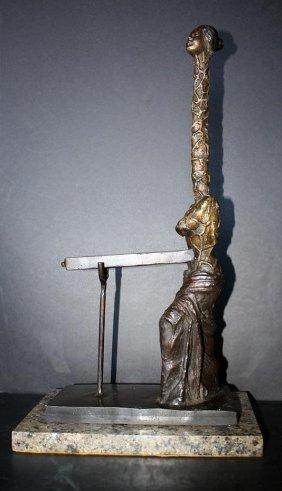 Dali Original Signed Bronze Female Giraffe With Drawer