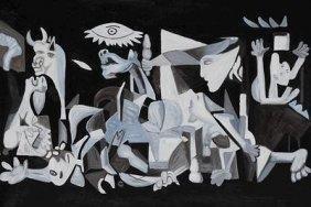 """Great Ltd Ed 1/10 Oil On Canvas """"guernica"""" Picasso Coa"""