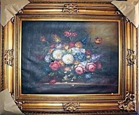 Exquisite Oil On Canvas Signed Massimo 19th Century