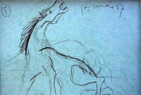 Pablo Picasso Offset -1st.mai.37 Study # 5 Guernica Coa