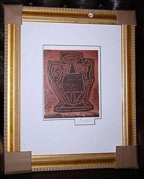Exquisite Signed Picasso Original Lithograph 1961