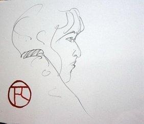 Toulouse Lautrec Original Pencil On Paper Unknown Title