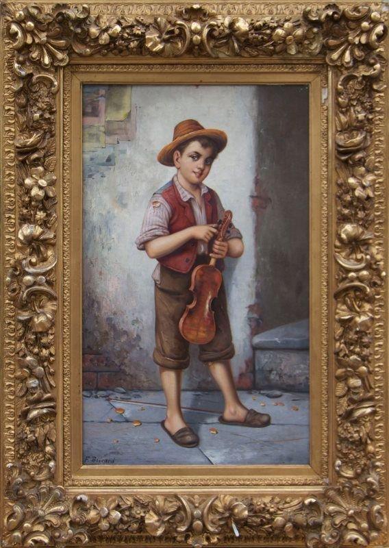 francois xavier bricard 1881 1935 the young violinist. Black Bedroom Furniture Sets. Home Design Ideas