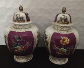 Pair Of Augustus Rex Porcelain