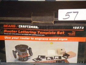 57 craftsman 92573 router lettering template lot 57 for Router alphabet templates