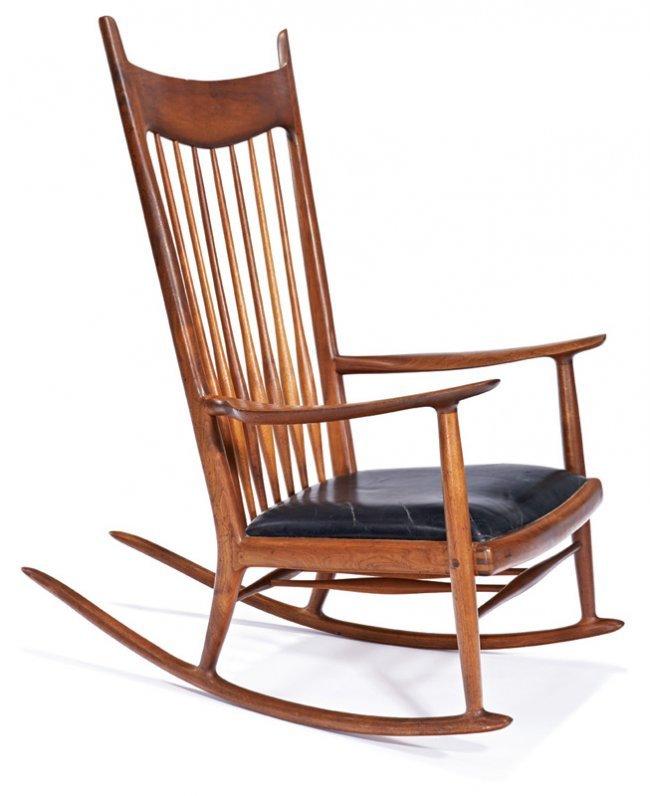 Sam Maloof Rocking Chair Lot 134