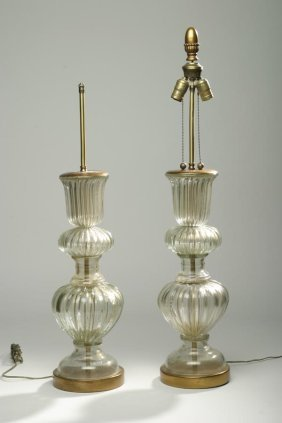 Attributed To Barovier, Murano Lamps