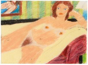 Tom Wesselmann, Study For Red Head Nude #7820