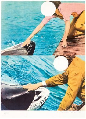 John Baldessari, Two Whales (with People)