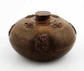 A Chinese Bronze Wine Pot.