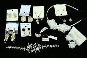 (18) Fine Crystal, Metal And Jeweled Jewelry --- A Set