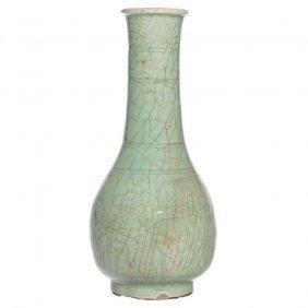 A Celadon Glazed Stoneware Vase.late Ming Dynasty.c401.
