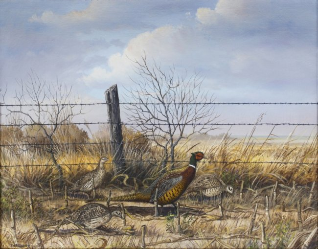J.W. Thrasher (Am. 1940-), Pheasant : Lot 34