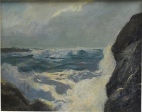 Original Oil On Board By Frederick Judd Waugh
