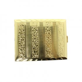 Vintage Gold Tone German Cigarette Case
