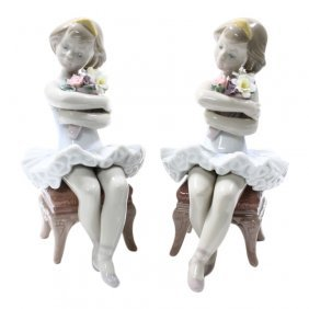 Pair Lladro First Performance Ballerina Figurines