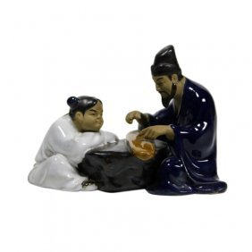 W. Jiang Chinese Mudmen Figurine