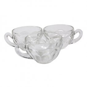 Three Depression Glass Punch Bowl Cups