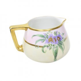 B And C Limoges Fruit Pitcher