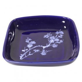 Decorative Plate With Hand Painted Flowers