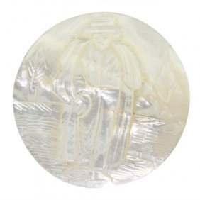 Gentleman In Evening Dress Mother Of Pearl Button