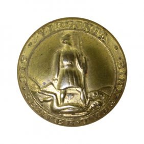 Virginia Confederate Button
