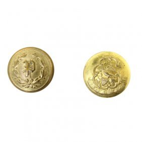 Pair Of Militia Buttons
